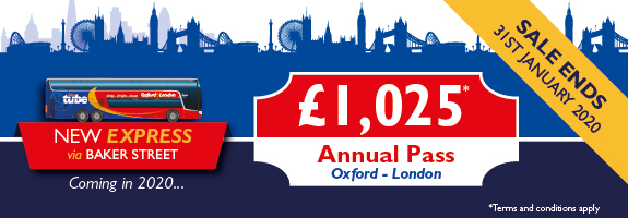 Oxford Tube annual pass sale